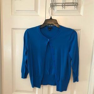 EUC Anika blue 3/4 sleeve button up cardigan